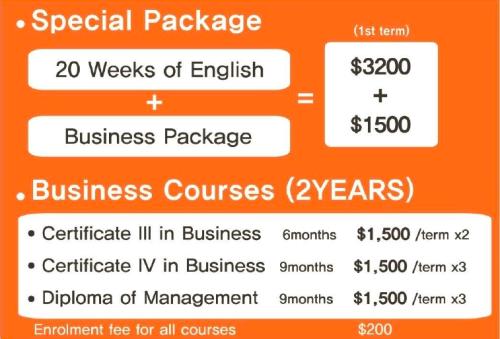 เรียนราคาถูกที่ Mercury Sydney Business Package